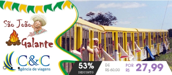 53% de desconto em um Bate e Volta para o São João de Galante pela C&C Turismo
