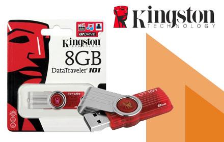 Oferta especial da Loja 10 - Pen Drive Kingston de 8Gb de R$ 79,00 por R$ 39,90