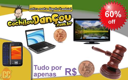 Não durma no ponto, nem cochile, ARREMATE! 60% de desconto em 100 lances em um dos melhores sites de leilão de 0,01 centavo, o cochiloudancou.com.br (de R$ 100,00 por apenas R$40,00)