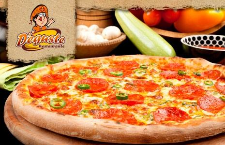 Puro Sabor Italiano! Pizza Grande no D'eguste Restaurante com 52% OFF (de até R$27 por R$13)