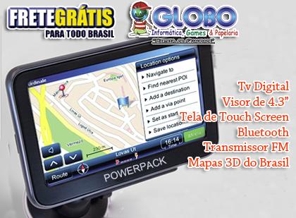 Encontre o seu caminho!!! 51% de Desconto em GPS Powerpack com TV Digital + Bluetooth + FRETE GRÁTIS! De R$449,00 por R$219,00. **Dividido em até 12x