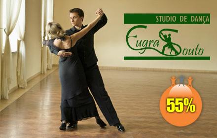 Matrícula + 2 Meses de Aula de Dança no Studio de Dança Eugra Souto com 55% de Desconto. De R$110,00 por R$49,50