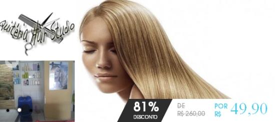 520a71cc3 81% de desconto em uma escova progressiva inteligente + corte em Quiteria  Hair Studio